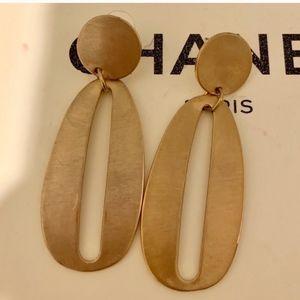 gold metal drop earrings